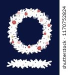 christmas adornment  on white... | Shutterstock .eps vector #1170752824