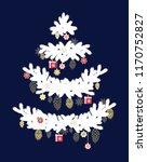 christmas adornment  on white... | Shutterstock .eps vector #1170752827