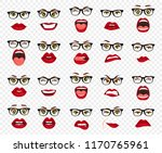 comic emotions. woman with... | Shutterstock .eps vector #1170765961