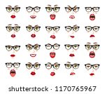 comic emotions. woman with...   Shutterstock .eps vector #1170765967