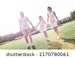 family walk. family of three... | Shutterstock . vector #1170780061