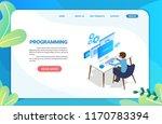 programming web development... | Shutterstock .eps vector #1170783394