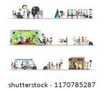 film studio interior with... | Shutterstock .eps vector #1170785287