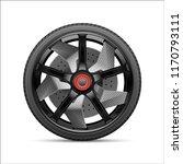 realistic black gray car wheel... | Shutterstock .eps vector #1170793111