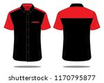 uniforms shirt design   black   ... | Shutterstock .eps vector #1170795877