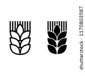 wheat ear line and glyph icon.... | Shutterstock .eps vector #1170803587
