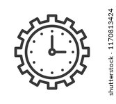 clock and gear  time management ... | Shutterstock .eps vector #1170813424