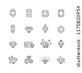 diamond related icons  thin...   Shutterstock .eps vector #1170820954