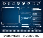 abstract  technology futuristic ... | Shutterstock .eps vector #1170822487