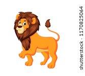 cute lion king cartoon | Shutterstock . vector #1170825064