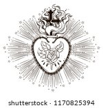 the beautiful sacred heart of... | Shutterstock .eps vector #1170825394