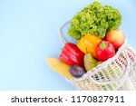 bunch of mixed organic fruit ... | Shutterstock . vector #1170827911