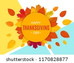 happy thanksgiving day... | Shutterstock . vector #1170828877