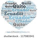 ecuador info text graphics and...   Shutterstock . vector #117083341