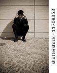 depressed businessman in urban...   Shutterstock . vector #11708353