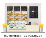 interior scene of modern bakery ... | Shutterstock .eps vector #1170838234