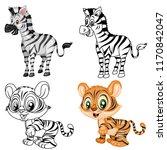 black and white vector... | Shutterstock .eps vector #1170842047
