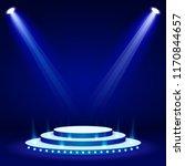 blue stage podium spotlight... | Shutterstock .eps vector #1170844657