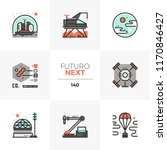 modern flat icons set of space... | Shutterstock .eps vector #1170846427