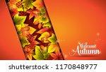 welcome autumn background...   Shutterstock .eps vector #1170848977