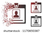 person badge icon in sparkle ... | Shutterstock .eps vector #1170850387