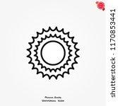 sun icon vector | Shutterstock .eps vector #1170853441