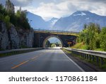 norway road and tunnel ... | Shutterstock . vector #1170861184