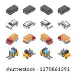 type of vehicles icon set | Shutterstock .eps vector #1170861391