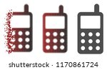 portable radio transmitter icon ...   Shutterstock .eps vector #1170861724