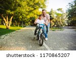 loving father and his son... | Shutterstock . vector #1170865207