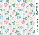 seamless pattern with flowers.... | Shutterstock . vector #1170872227