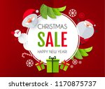 christmas sale season design... | Shutterstock .eps vector #1170875737