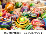 mexican traditional toys | Shutterstock . vector #1170879031