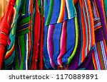 mexican traditional textiles | Shutterstock . vector #1170889891