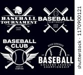 baseball labels badges logos... | Shutterstock .eps vector #1170900121
