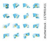 saint lucia flag  vector... | Shutterstock .eps vector #1170901411