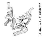 microscope biology school... | Shutterstock .eps vector #1170907987
