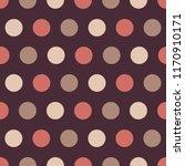delicate polka dot seamless... | Shutterstock .eps vector #1170910171