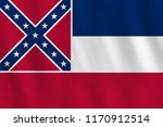 mississippi us state flag with... | Shutterstock .eps vector #1170912514