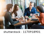 group of multi nation friends... | Shutterstock . vector #1170918901