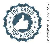 top rated vector label | Shutterstock .eps vector #1170922237