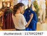 shopping time   young beautiful ... | Shutterstock . vector #1170922987