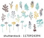 willow and palm tree branches ... | Shutterstock .eps vector #1170924394