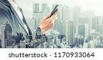 young businesswoman using... | Shutterstock . vector #1170933064