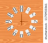 simple clock domino. vector... | Shutterstock . vector #1170933361