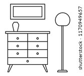 room clothes drawer icon.... | Shutterstock .eps vector #1170949657