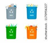 set of garbage box background.... | Shutterstock .eps vector #1170956227