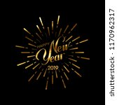 happy 2019 new year. holiday... | Shutterstock .eps vector #1170962317