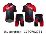cycling jerseys mockup t shirt... | Shutterstock .eps vector #1170962791