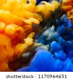ink drop in water. abstract... | Shutterstock . vector #1170964651